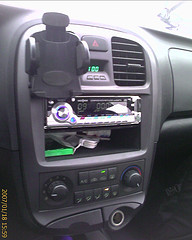 USB connected in the car stereo